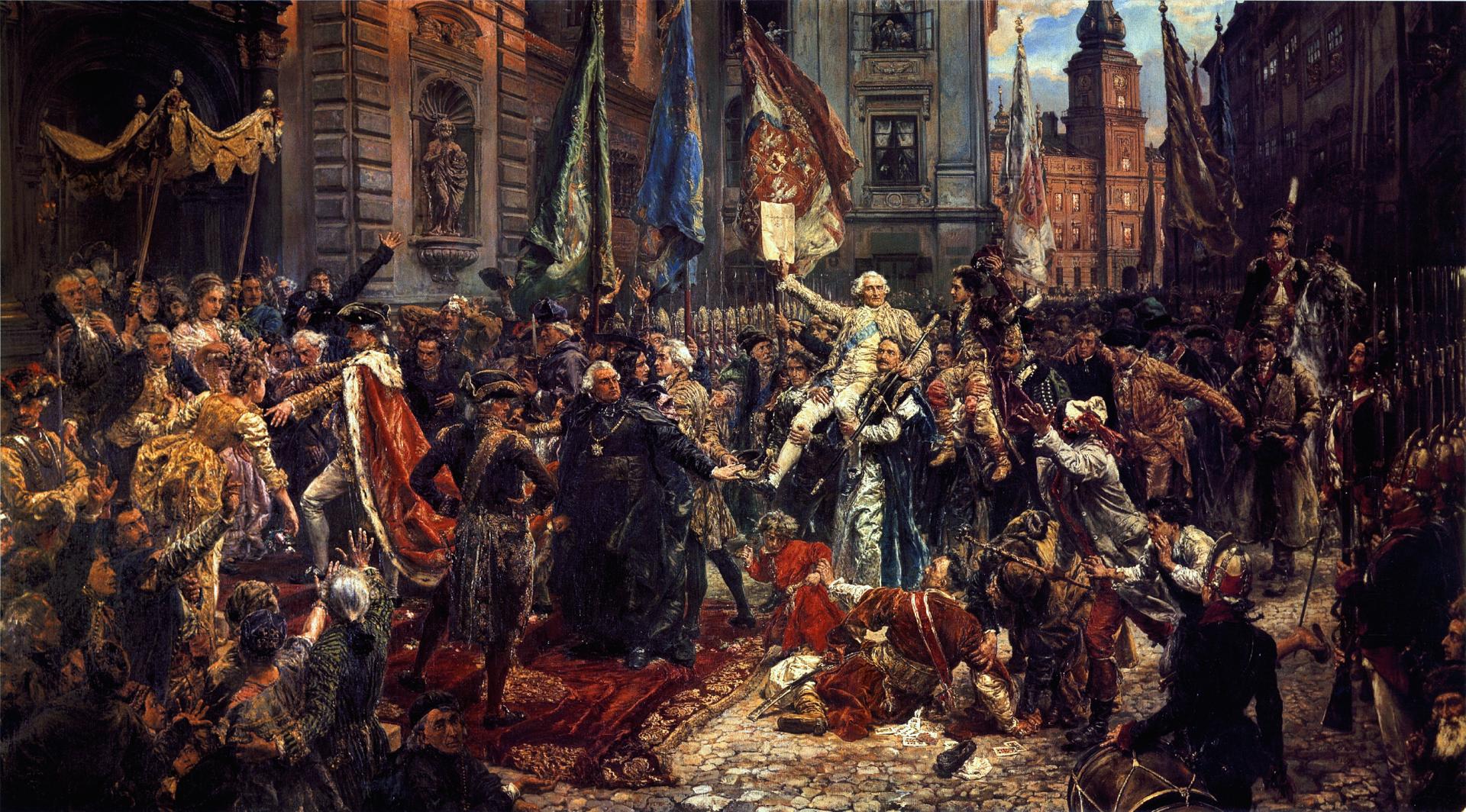 Konstytucja 3 maja Źródło: Jan Matejko, Konstytucja 3 maja, 1891, domena publiczna.
