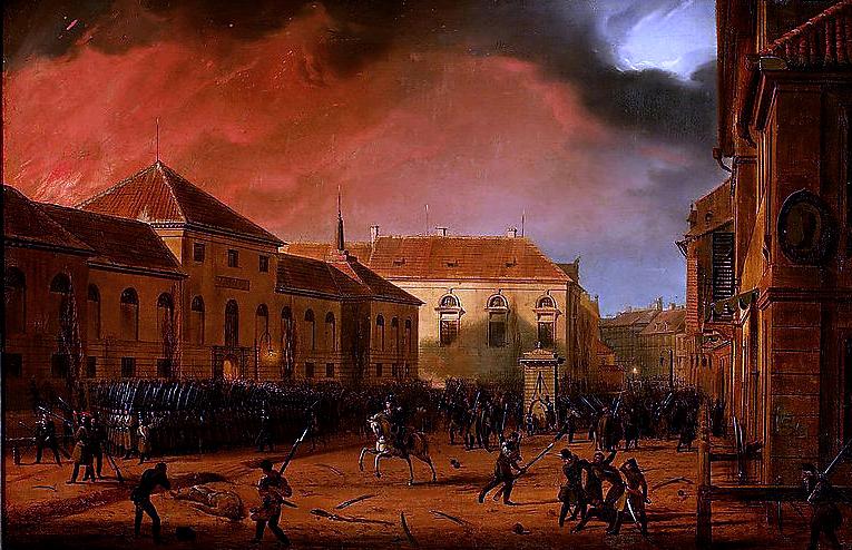 Wzięcie Arsenału Źródło: Marcin Zaleski, Wzięcie Arsenału, 1831, olej na płótnie, Muzeum Narodowe wWarszawie.