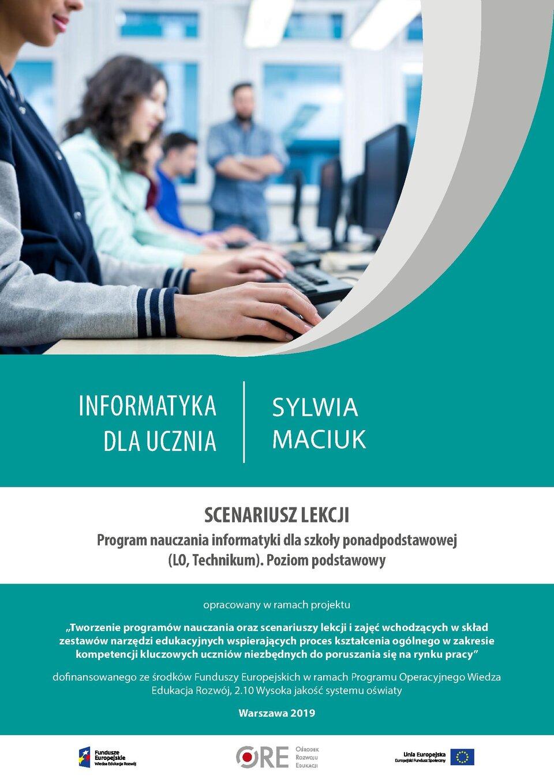 Pobierz plik: Scenariusz 8 Maciuk SPP Informatyka podstawowy.pdf