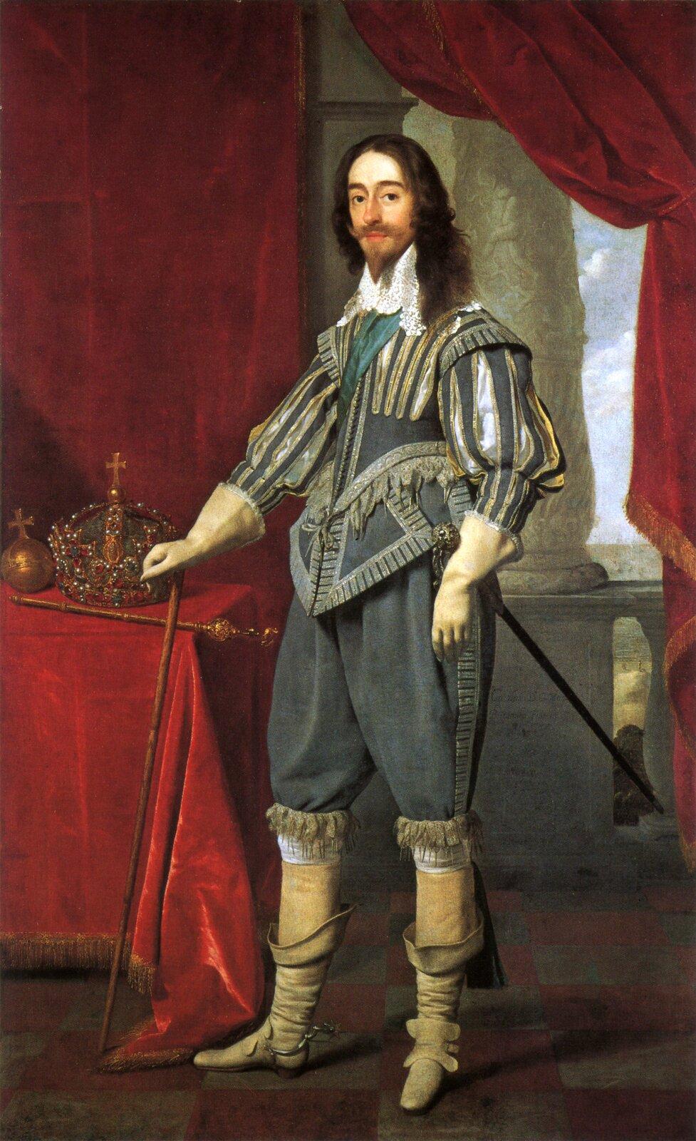 PortretKarola IStuarta. PortretKarola IStuarta. Źródło: Daniël Mijtens, 1631, National Portrait Gallery, domena publiczna.