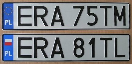 na zdjęciu ukazane zostały tablice rejestracyjne obowiązujące wPolsce