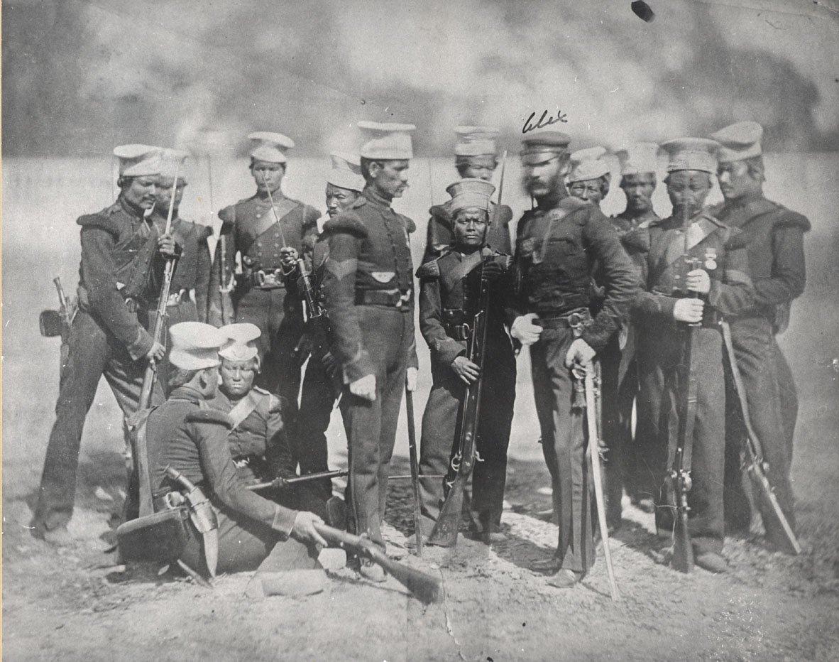Batalion Gurkhowie Źródło: Batalion, ok. 1857.