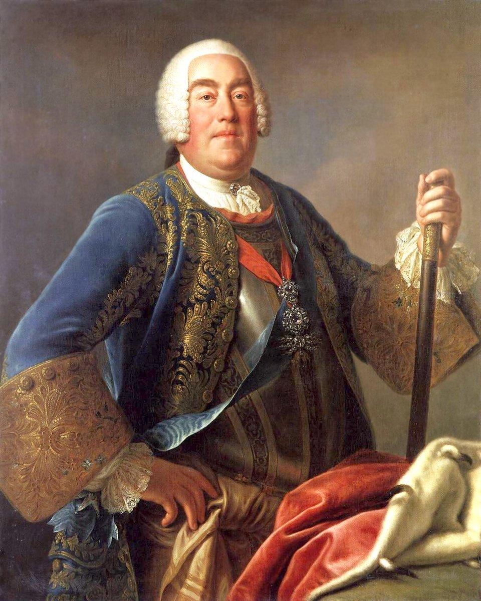 PortretAugusta III króla Polski. PortretAugusta III króla Polski. Źródło: Pietro Rotari, 1755, Gemäldegalerie Alte Meister, domena publiczna.