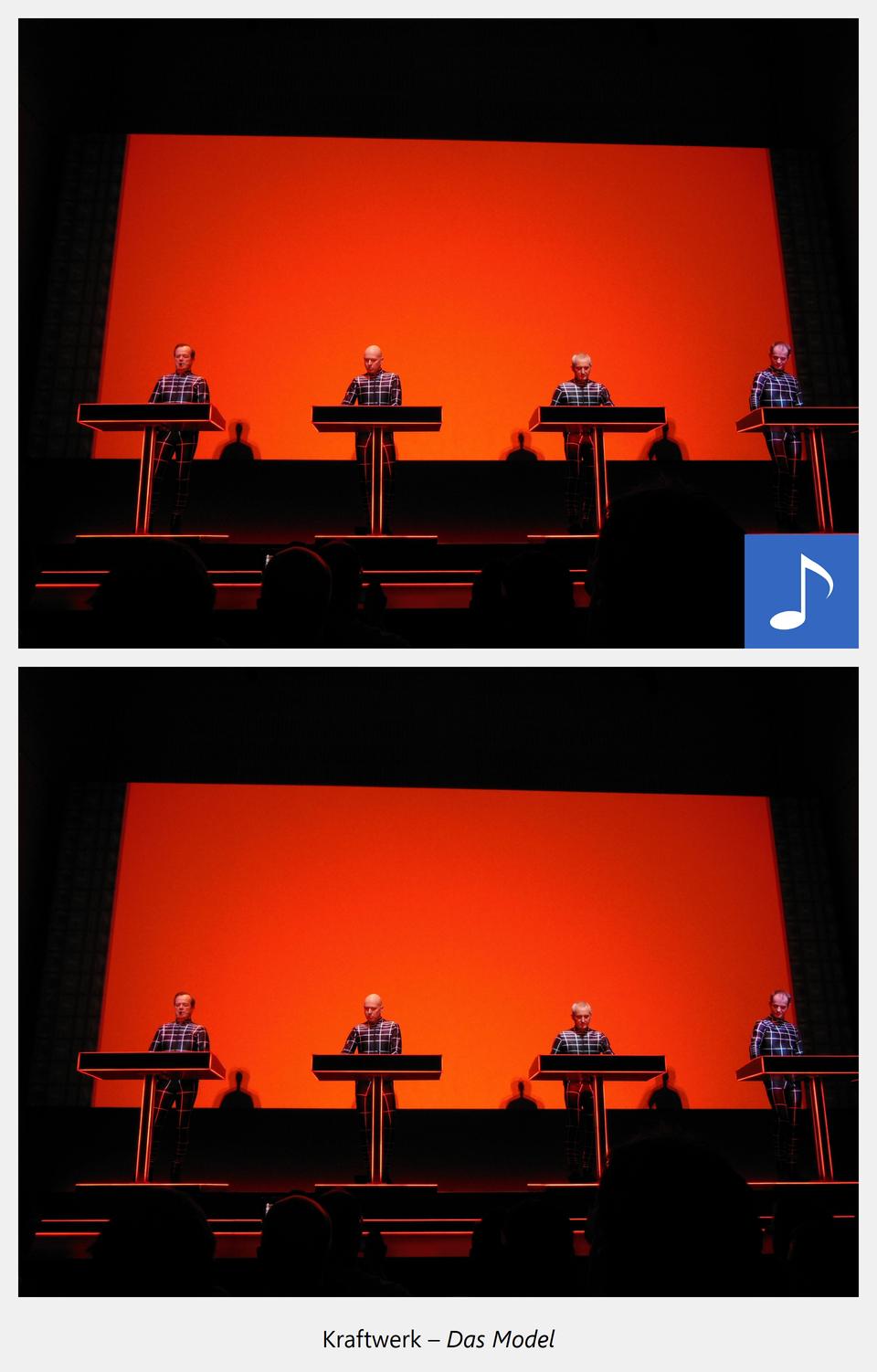 Ilustracja interaktywna - po kliknięciu kursorem myszy na grafikę przedstawiającą czterech mężczyzn za keyboardami, zostanie wyświetlona informacja dodatkowa oraz odtworzony utwór muzyczny. Dodatkowe informacje:
