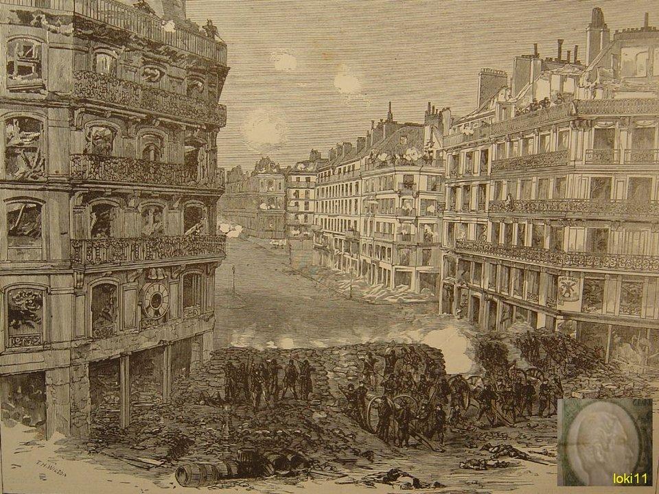 Walka na ulicy Rivoli wczasie Komuny Paryskiej Źródło: loki11, Walka na ulicy Rivoli wczasie Komuny Paryskiej, 1871, domena publiczna.