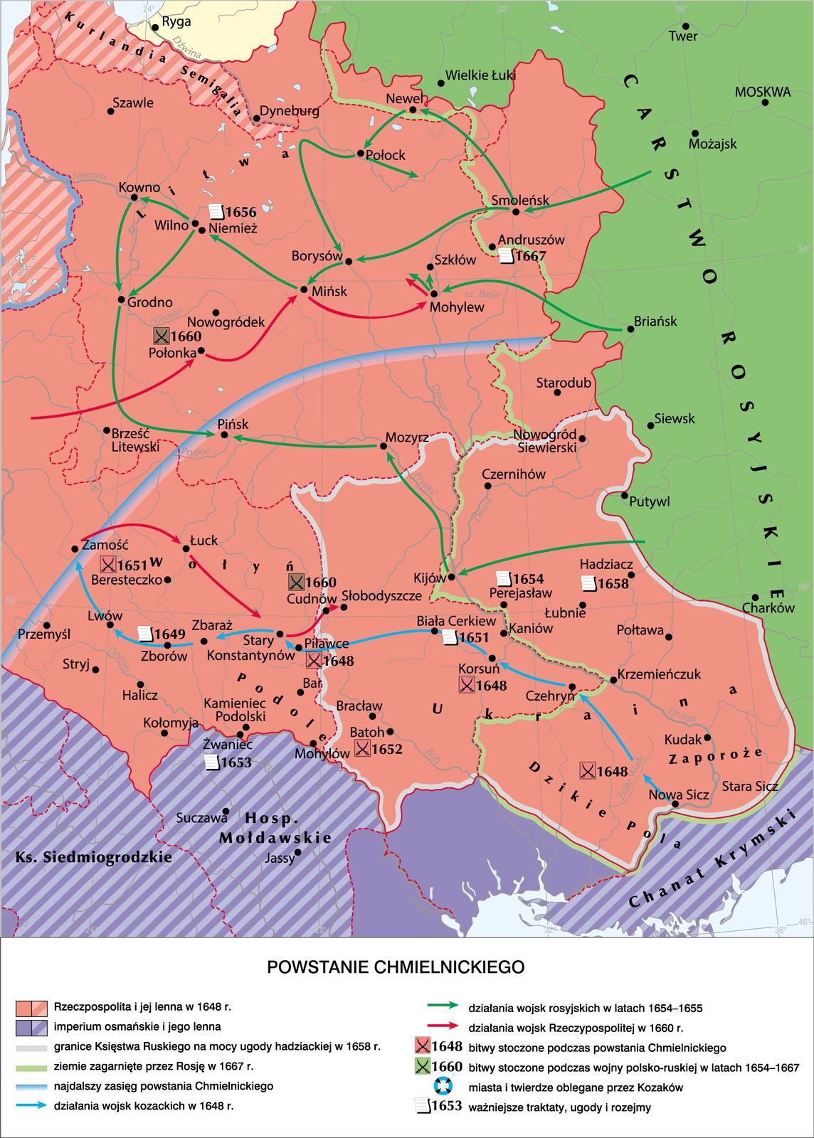 Powstanie Chmielnickiego Powstanie Chmielnickiego Źródło: Krystian Chariza izespół, licencja: CC BY-SA 4.0.