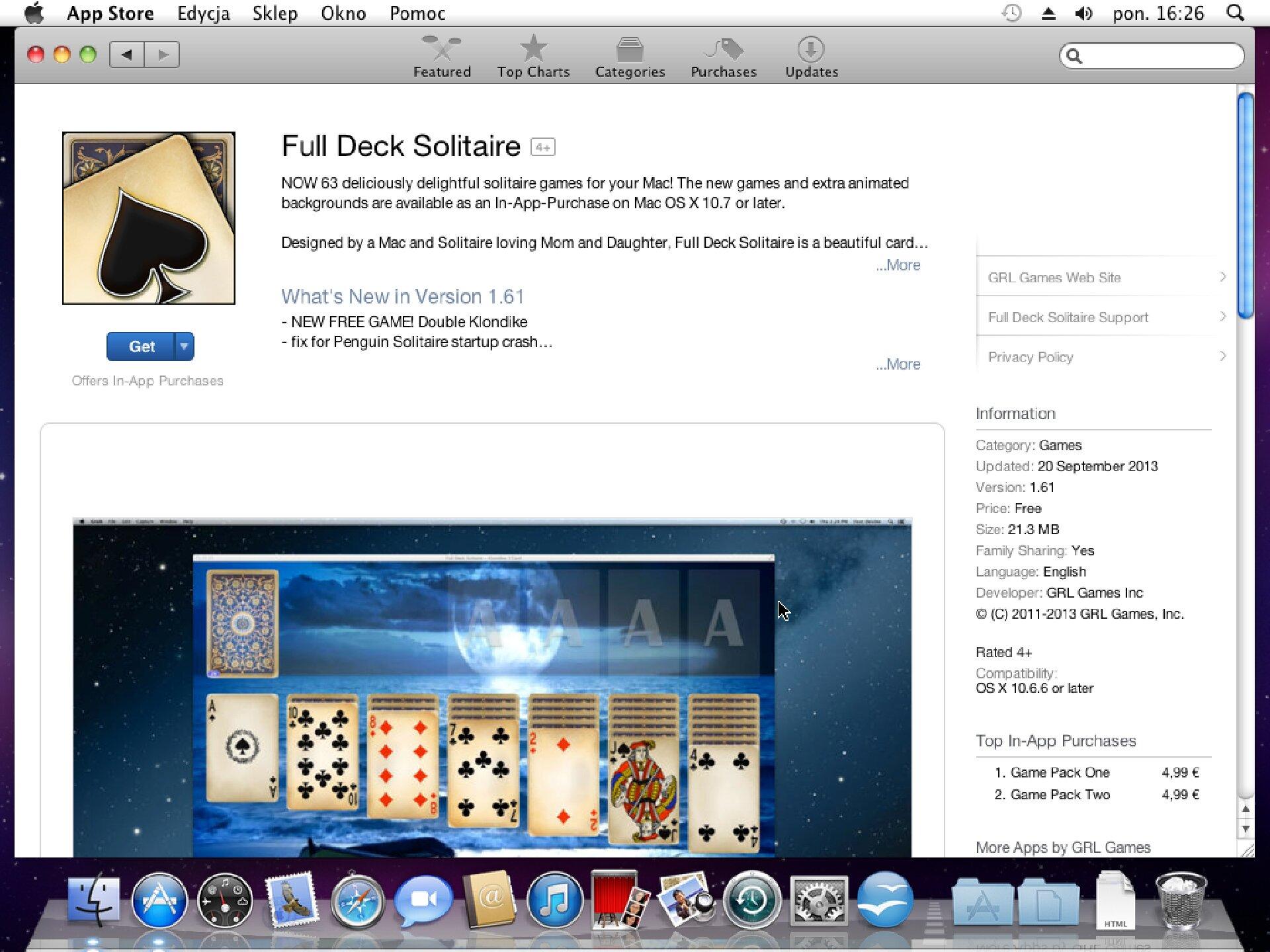 Zrzut okna 3 procesu instalacji programu wsystemie Mac OS X
