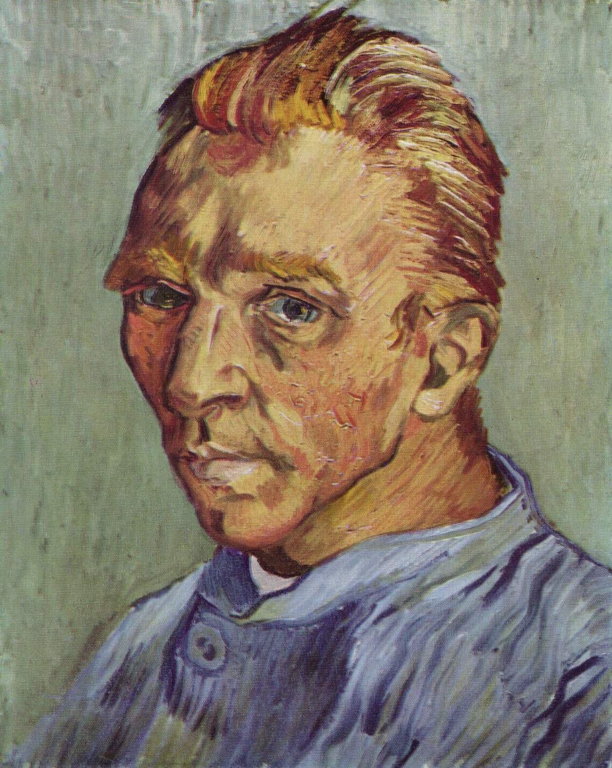 Autoportret bez brody Źródło: Vincent van Gogh, Autoportret bez brody, 1889, olej na płótnie, zbory prywatne, domena publiczna.