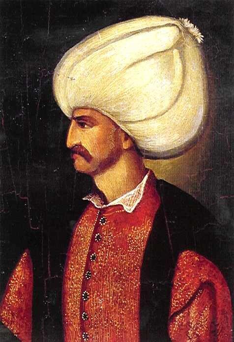 Sulejman Wspaniały, cesarz Turcji Źródło: Sulejman Wspaniały, cesarz Turcji , XVI wiek, domena publiczna.
