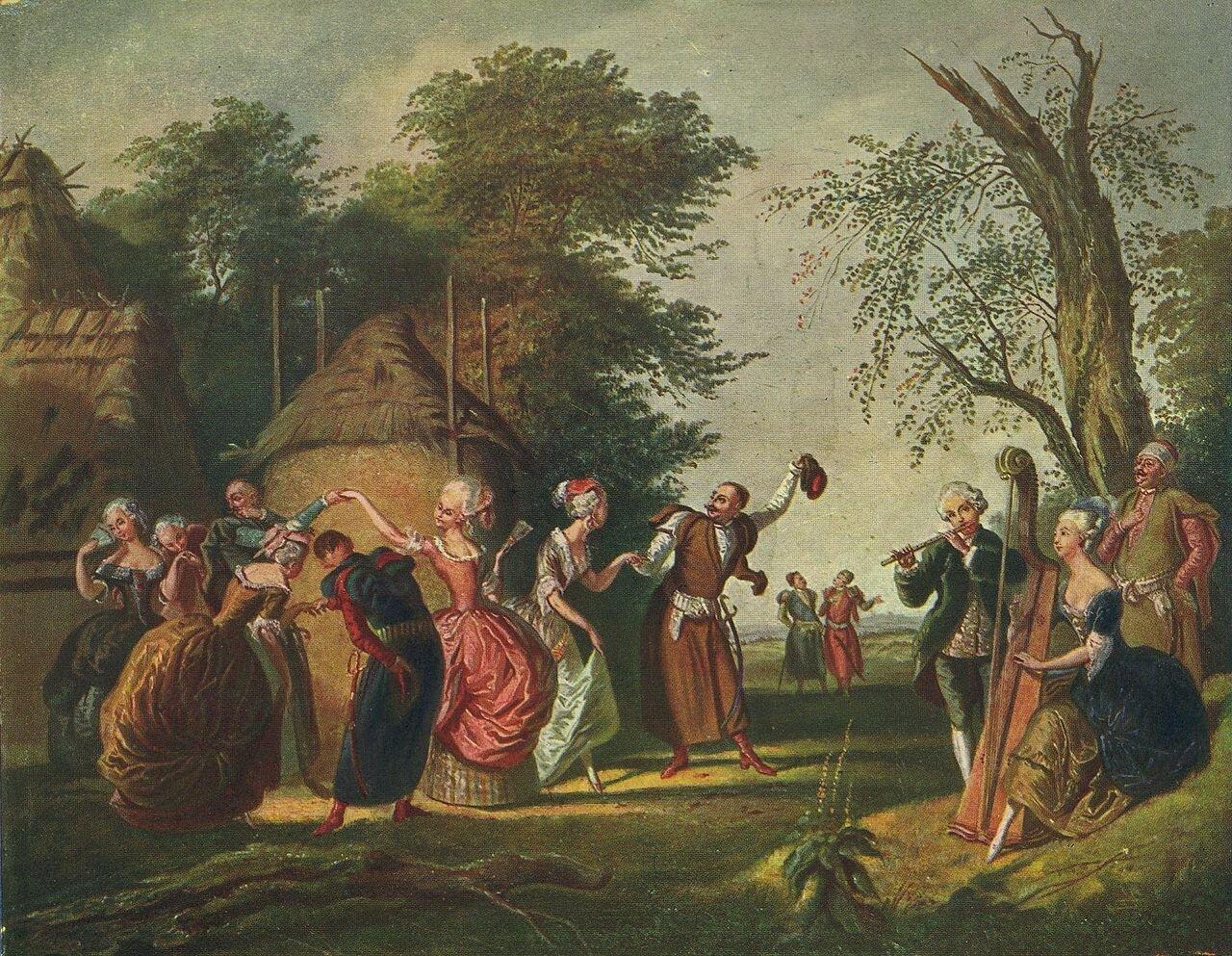 Polonez pod gołym niebem Źródło: Korneli Szlegiel, Polonez pod gołym niebem, XIX wiek, ilustracja.