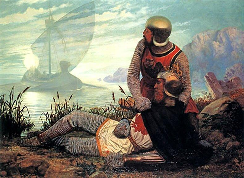 Śmierć króla Artura Źródło: John Garrick, Śmierć króla Artura, 1862, domena publiczna.
