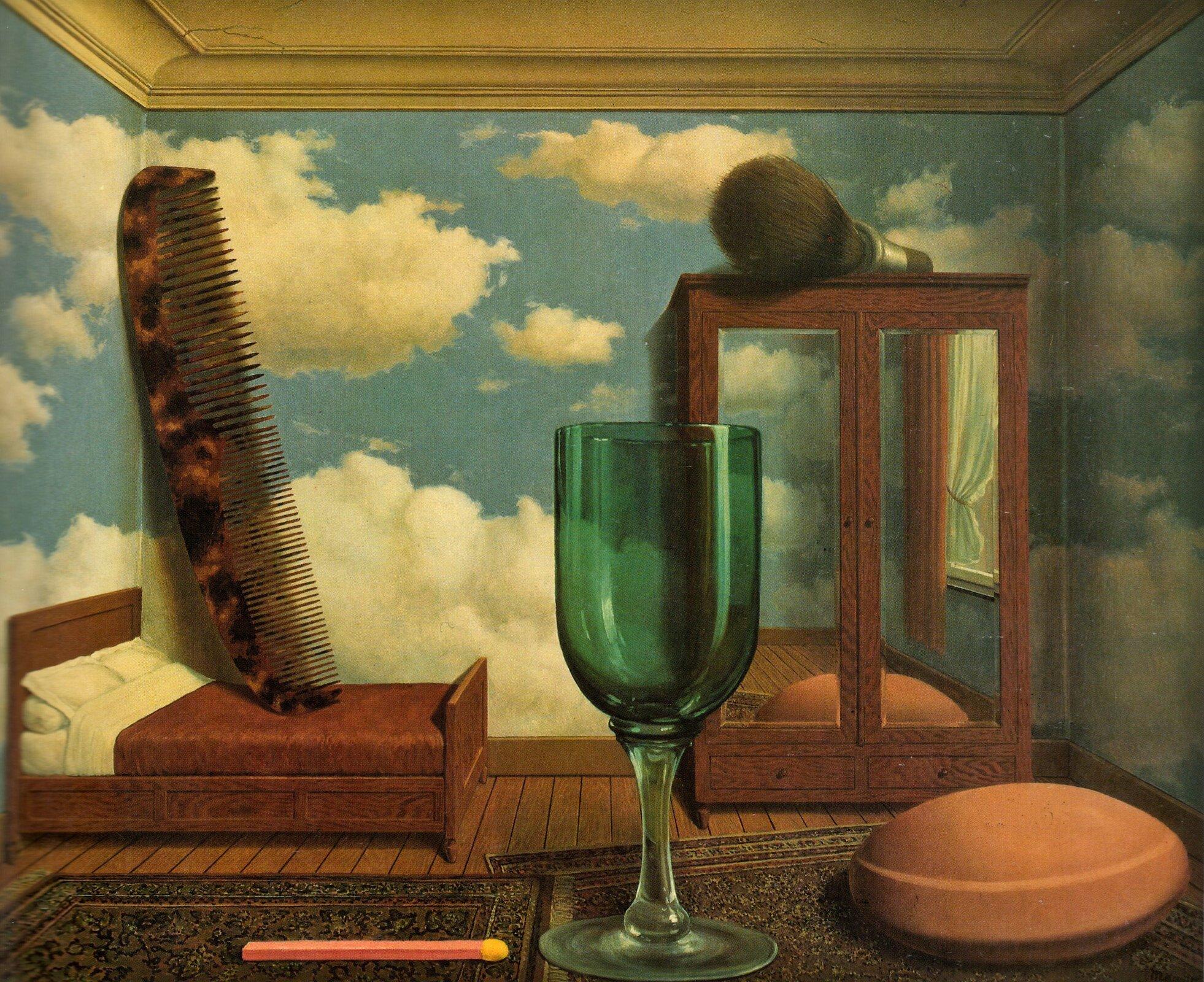 Osobiste wartości Źródło: fot.: cea , René Magritte, Osobiste wartości, San Francisco Museum of Modern Art, licencja: CC BY 2.0, [online], dostępny winternecie: https://www.flickr.com/photos/centralasian/6601894623 [dostęp 9.12.2015 r.].