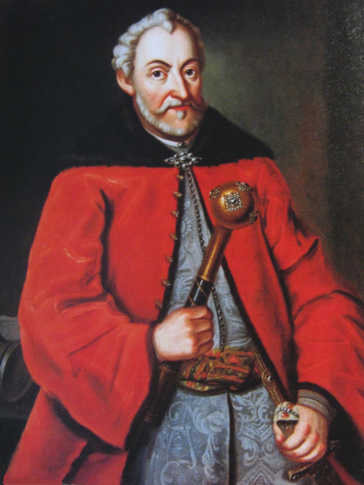 Jan Zamoyski Kanclerz ihetman wielki koronny Jan Zamoyski. Źródło: artysta nieznany, Jan Zamoyski, 2 poł. XVI w., olej, domena publiczna.