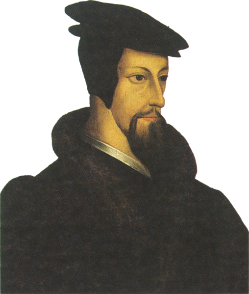 Portret Jana Kalwina Źródło: artysta anonimowy, Portret Jana Kalwina, XVI wiek, domena publiczna.