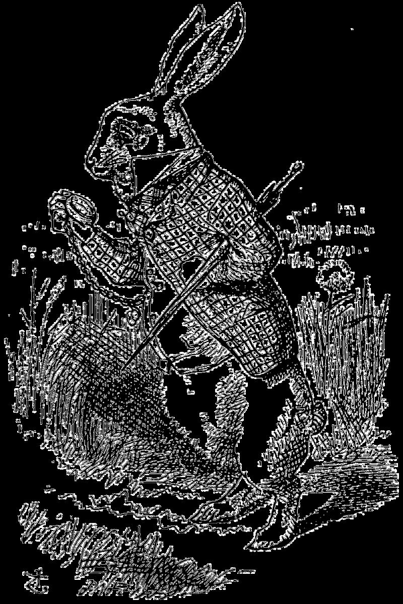 Down the Rabbit Hole - grafika Źródło: John Tenniel, 1865, domena publiczna.