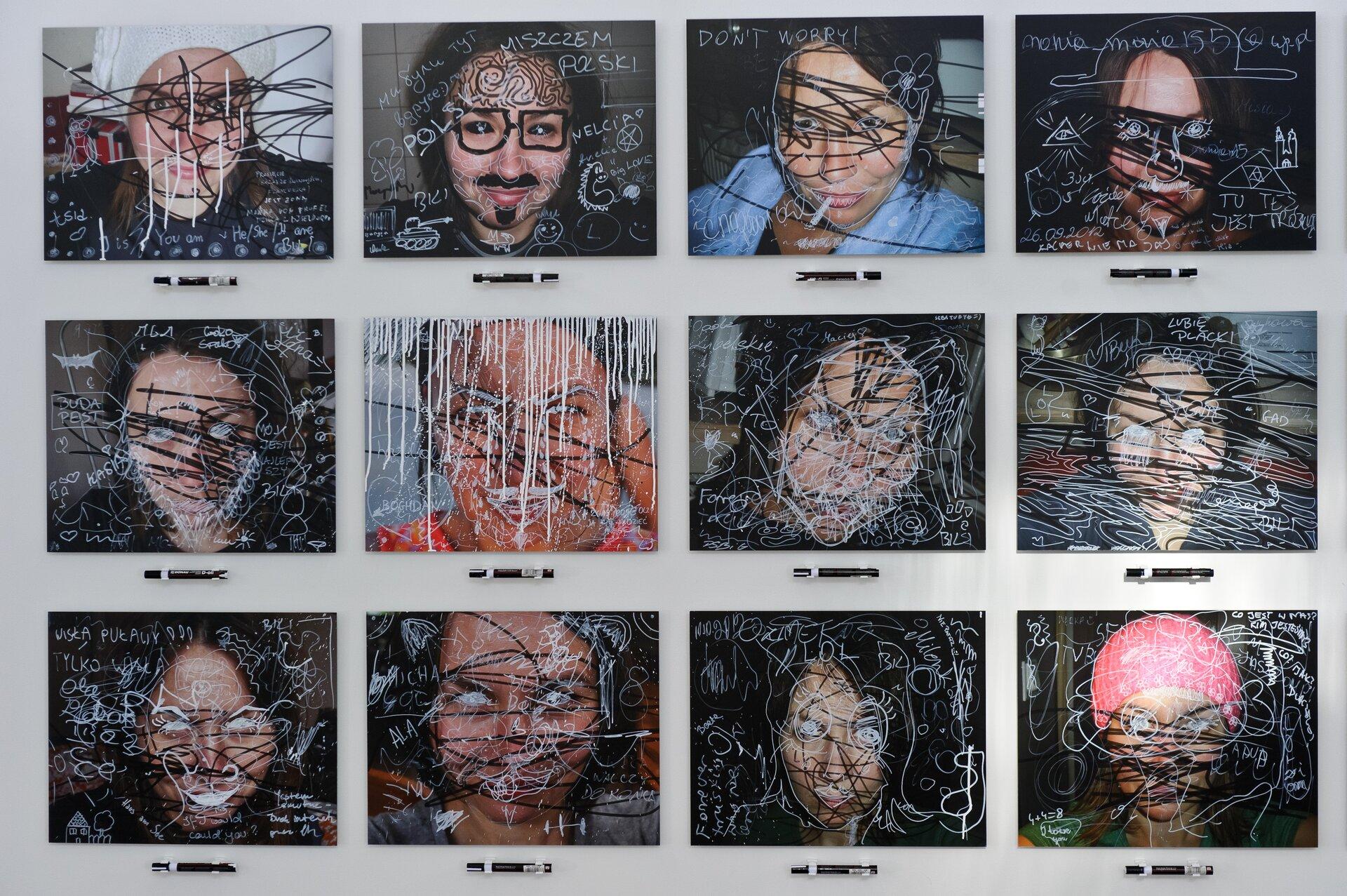 """Ilustracja przedstawiająca instalację artystyczną Elżbiety Jabłońskiej pt. """"Zamaż mnie."""