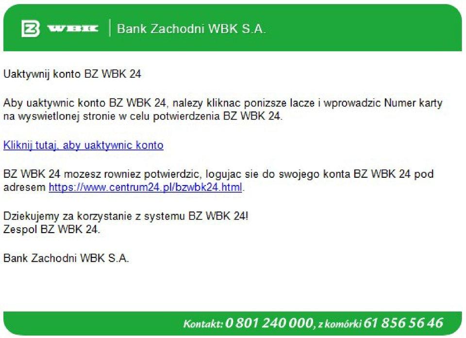 Okno aplikacji WBK SA