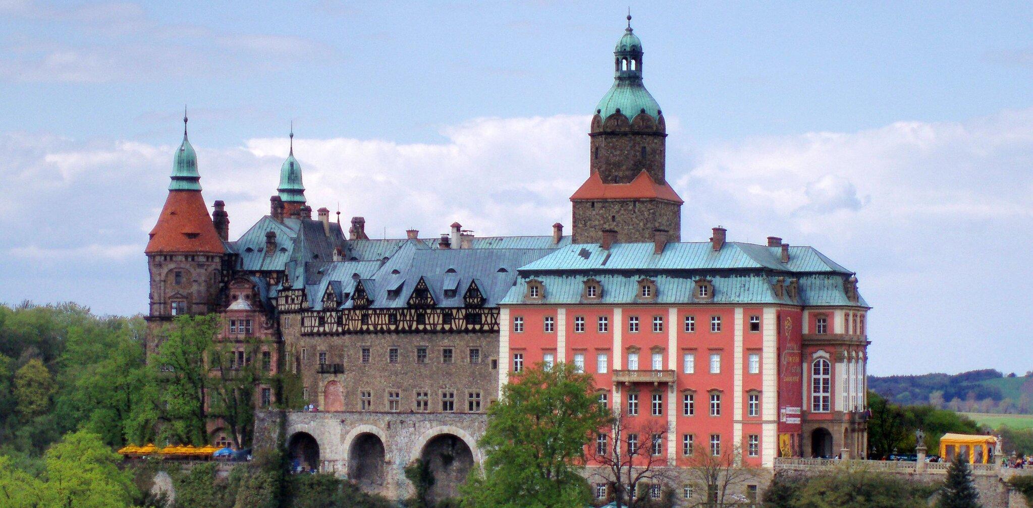 Zamek Książ Zamek Książ Źródło: Drozdp, licencja: CC BY-SA 4.0.