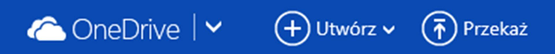 Zrzut fragmentu paska menu usługi OneDrive