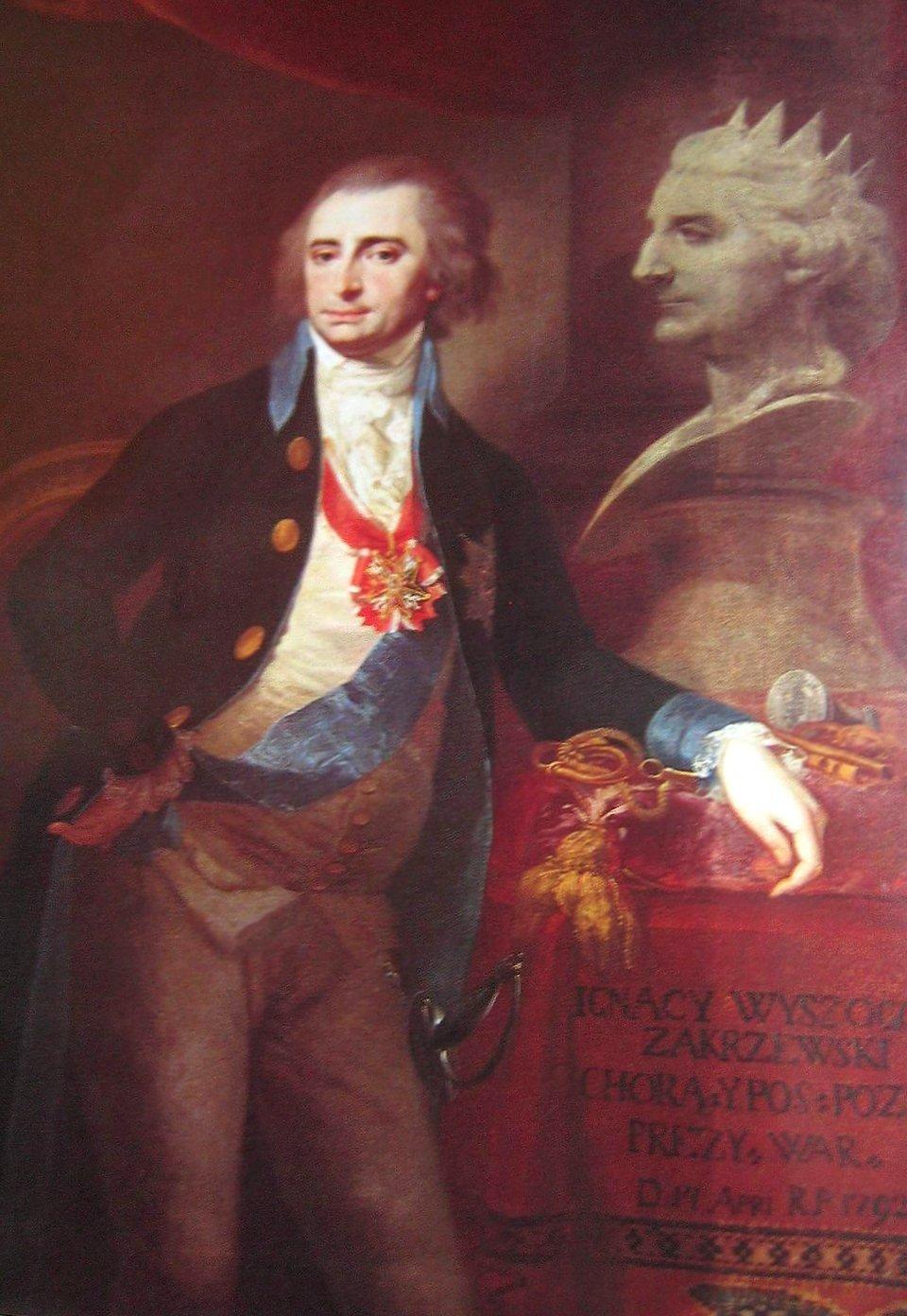 Ignacy Wyssogota Zakrzewski (1745-1802) Źródło: Józef Peszka, Ignacy Wyssogota Zakrzewski (1745-1802), 1792, domena publiczna.