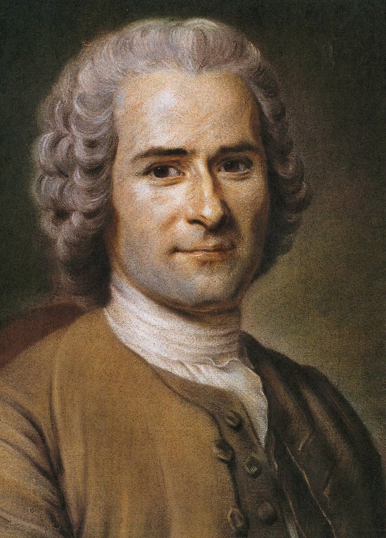 Rousseau Najbardziej znany portret Rousseau namalowany przez M. Q. de LaToura. Źródło: Maurice Quentin de La Tour, Rousseau, XVIII w., pastele, Musée Antoine-Lécuyer, domena publiczna.