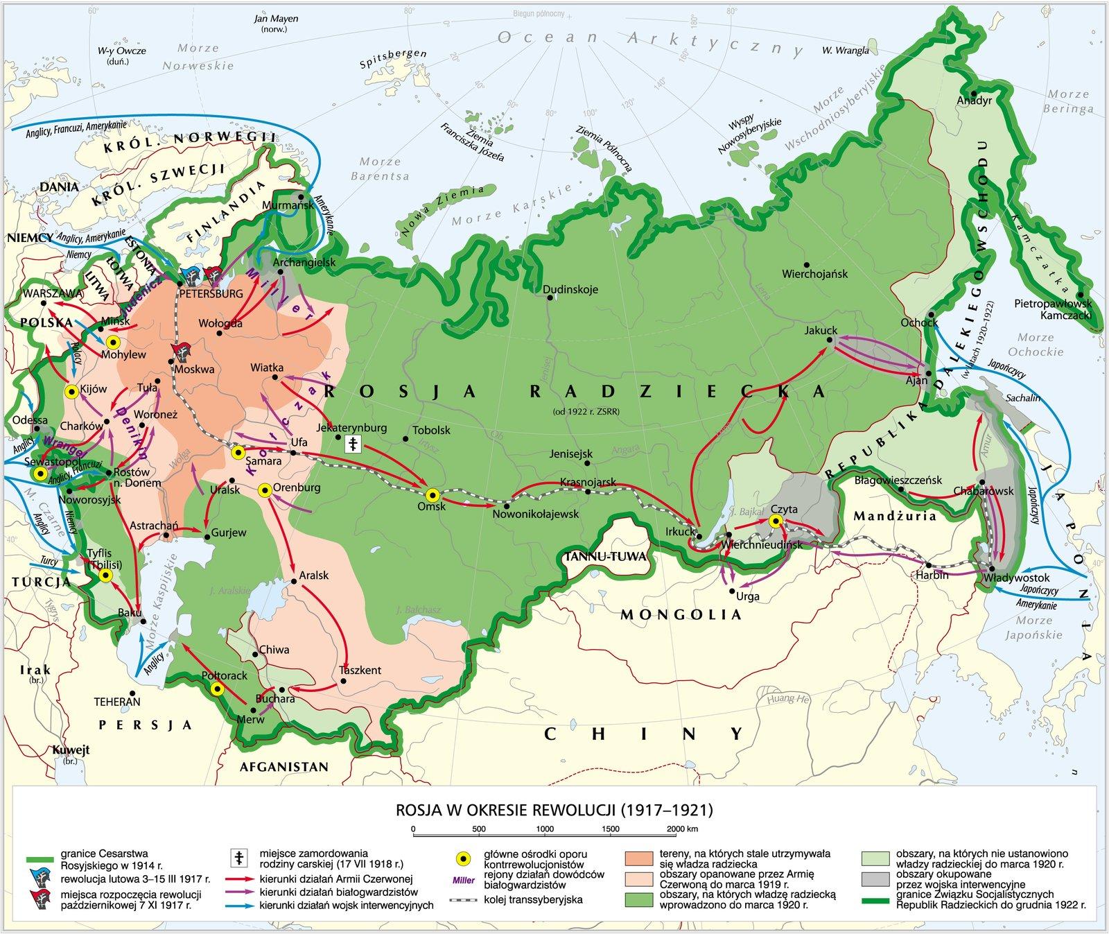 Rosja wokresie rewolucji Rosja wokresie rewolucji Źródło: Krystian Chariza izespół, licencja: CC BY 3.0.