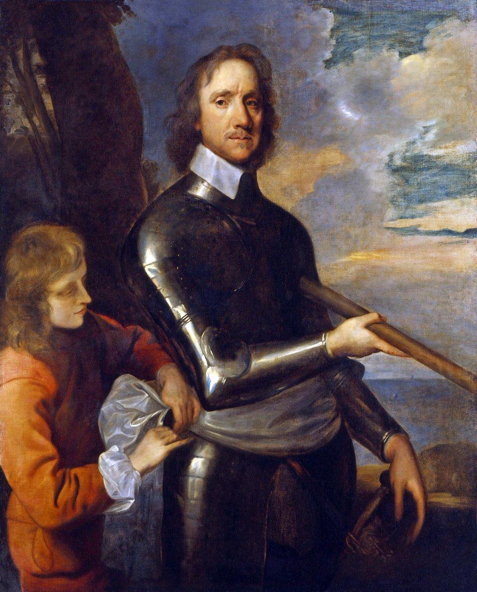 PortretOlivera Cromwella z1649 r. PortretOlivera Cromwella z1649 r. Źródło: Robert Walker, ok. 1649, olej na płótnie, domena publiczna.