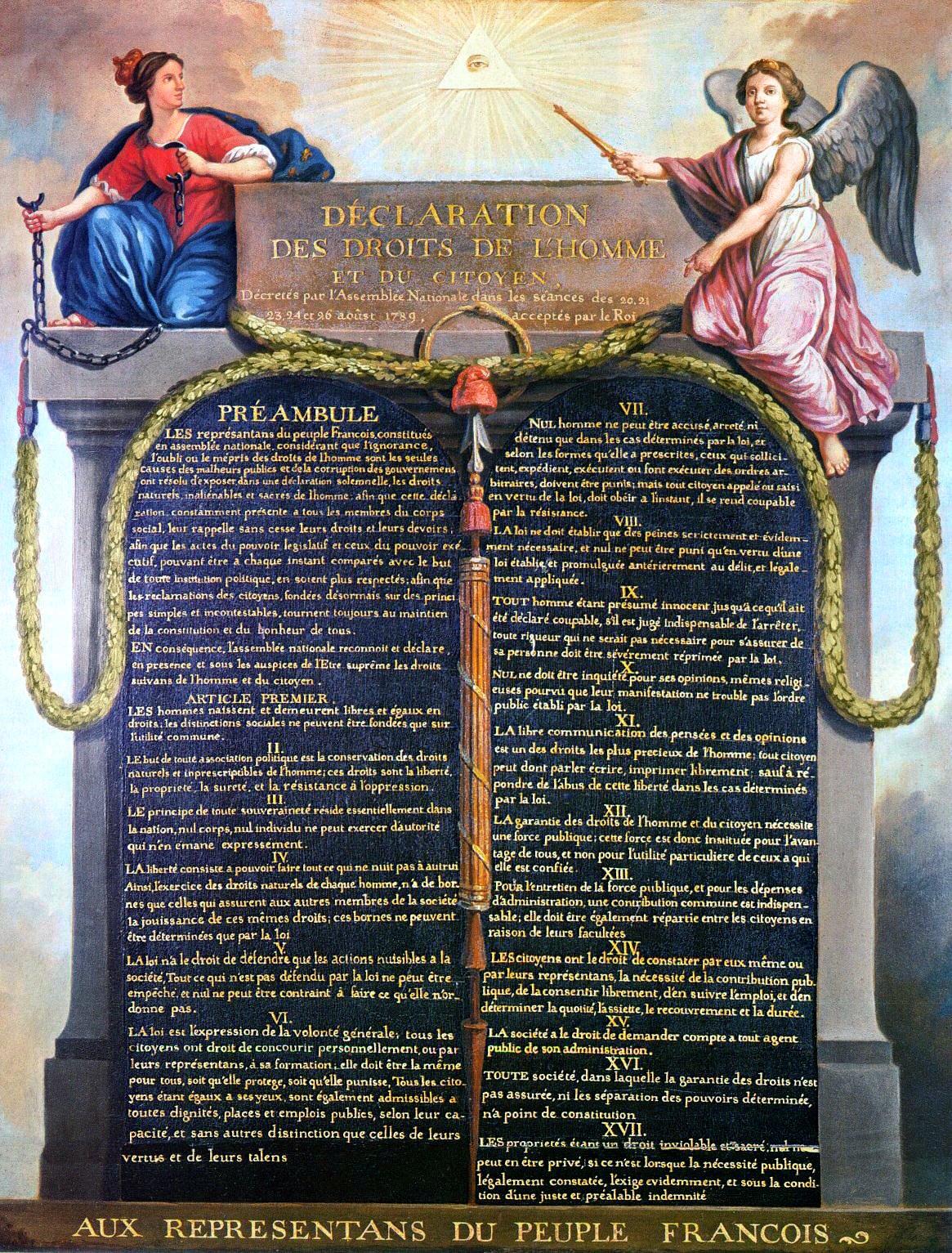 Deklaracja praw człowieka iobywatela Deklaracja praw człowieka iobywatela Źródło: Deklaracja praw człowieka iobywatela, Carnavalet muzeum, licencja: CC 0.