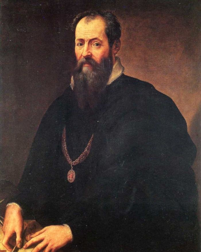 Autoportret Gorgio Vasari'ego Autoportret Gorgio Vasari'ego Źródło: Giorgio Vasari, Olej na płótnie, domena publiczna.