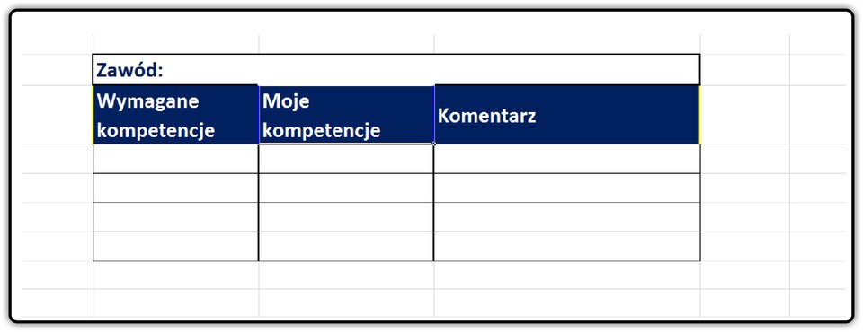 Zrzut tabeli