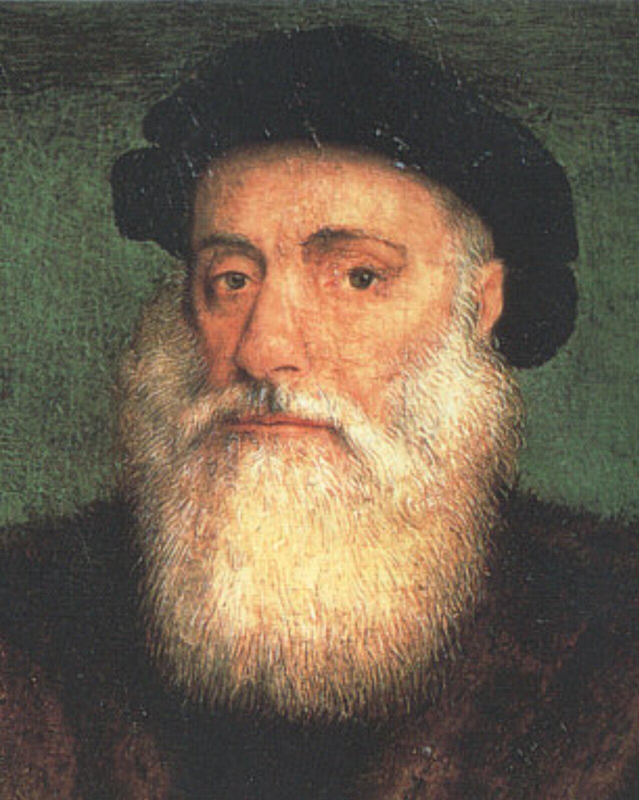 Vasco da Gama Źródło: Gregório Lopes, Vasco da Gama, ok. 1524, domena publiczna.