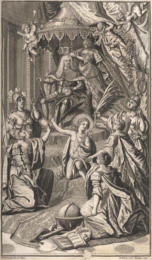 Alegoryczne przedstawieniekoronacji Karola VII Wittelsbacha na cesarza w1742 r. – grafika współczesna Alegoryczne przedstawieniekoronacji Karola VII Wittelsbacha na cesarza w1742 r. – grafika współczesna Źródło: domena publiczna.