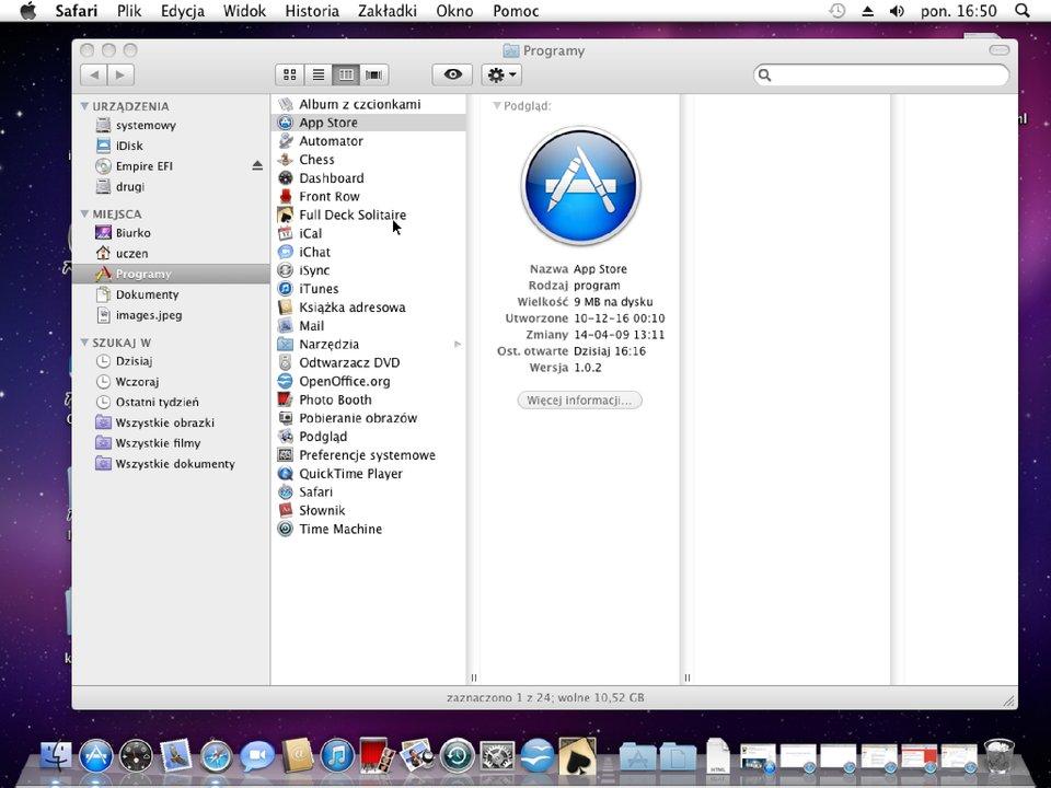 Zrzut okna 13 procesu instalacji programu wsystemie Mac OS X
