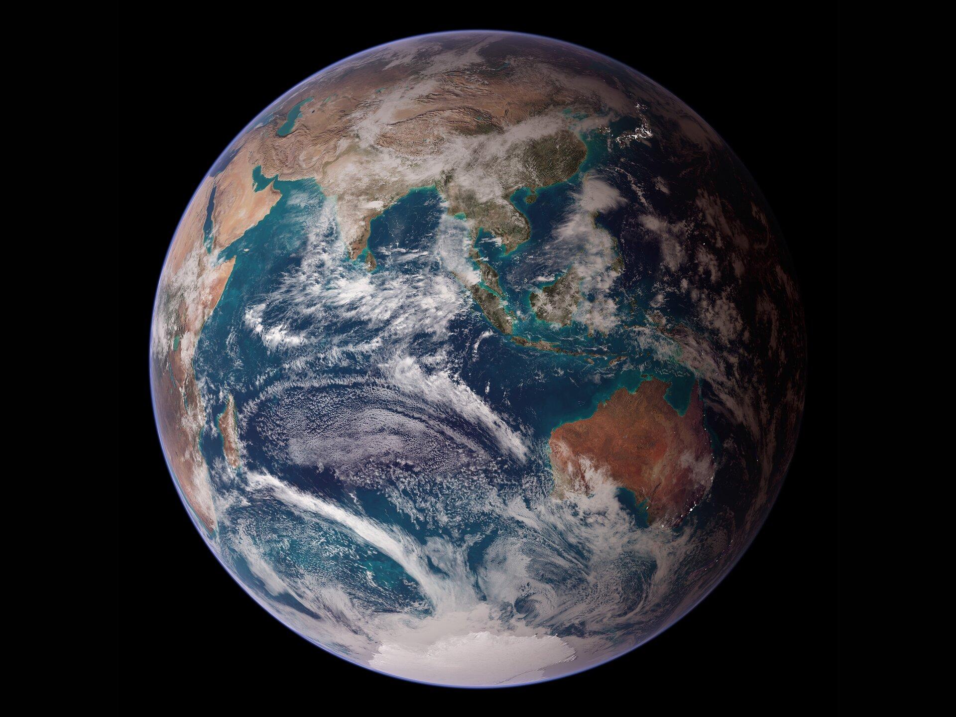 Fotografia satelitarna przedstawia planetę Ziemię
