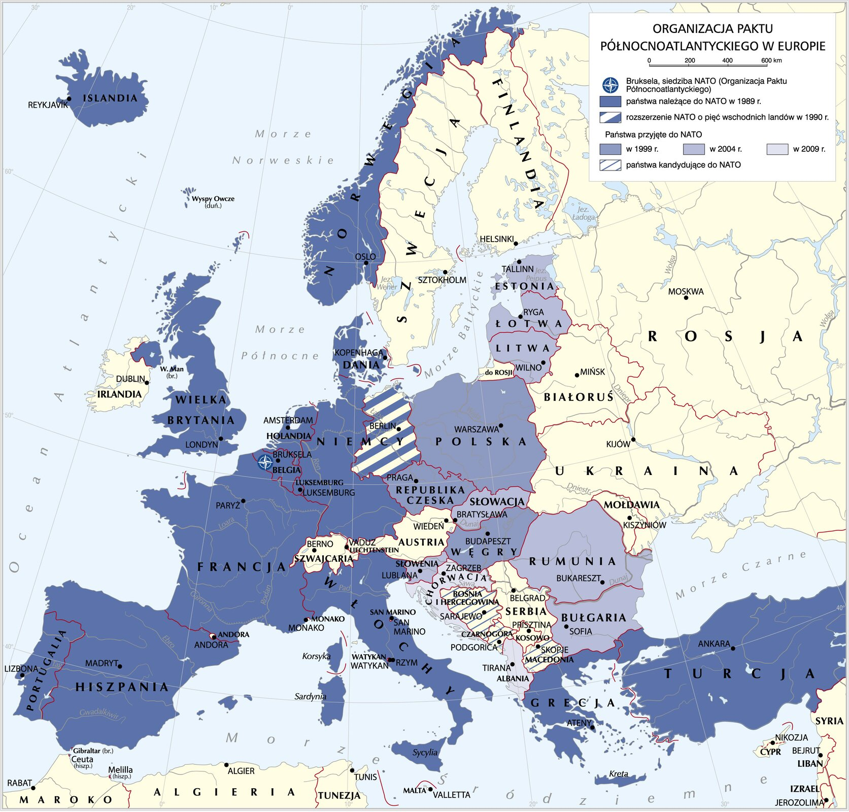 mapaNATO wEuropie