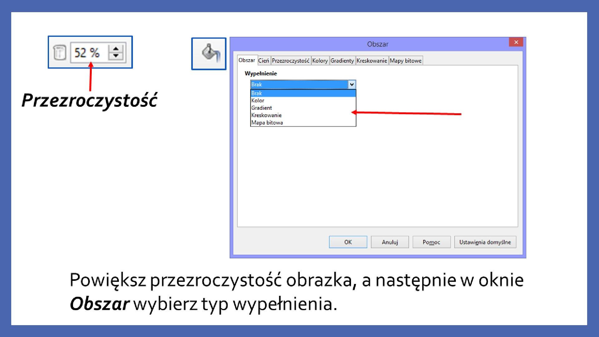Slajd 8 galerii zrzutów slajdów: Modyfikacja obiektów wprogramie LibreOffice Impress