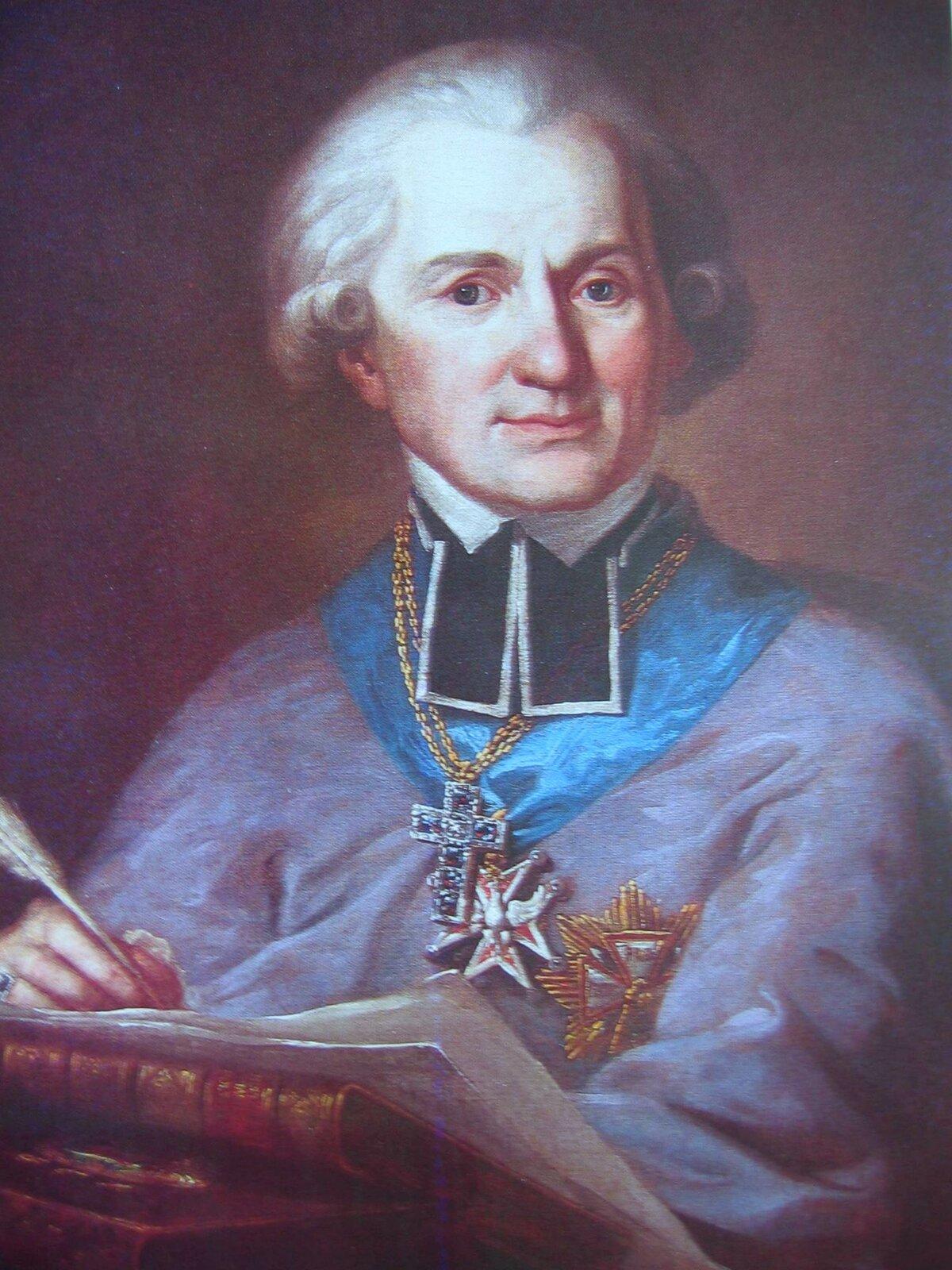 Adam Naruszewicz Źródło: Mateusz Tokarski, Adam Naruszewicz, ok. 1791, olej na płótnie, Zamek Królewski wWarszawie, domena publiczna.
