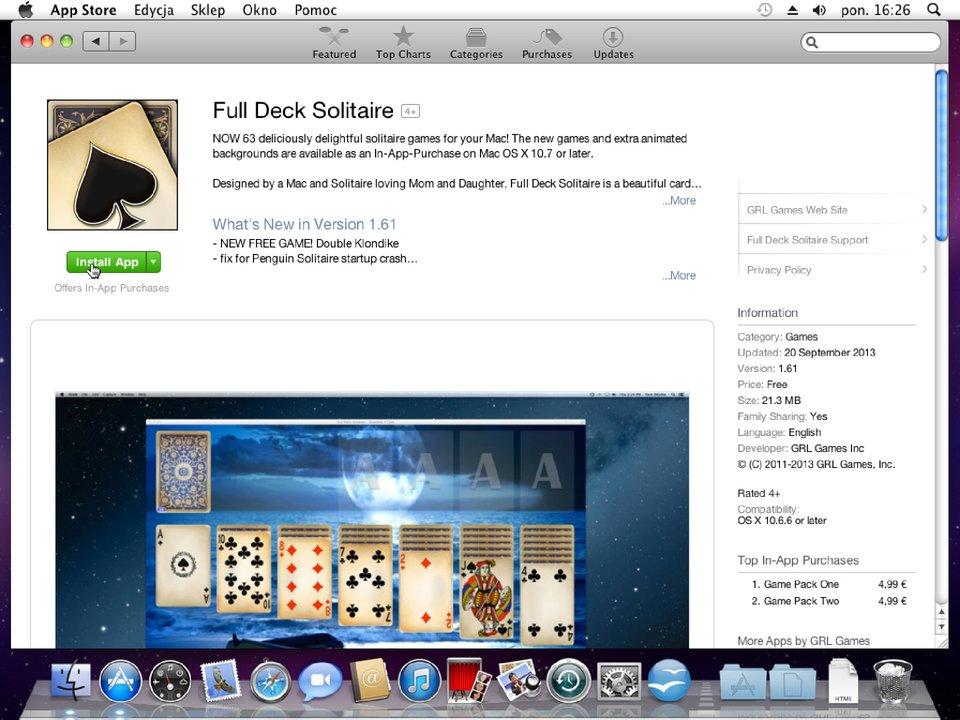 Zrzut okna 4 procesu instalacji programu wsystemie Mac OS X