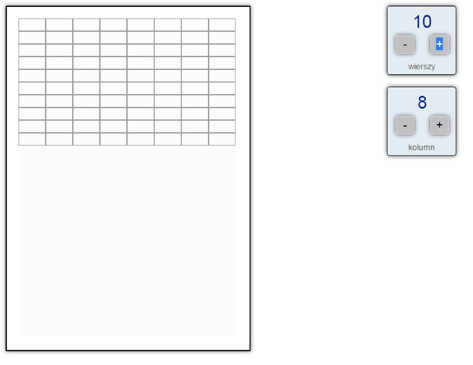 Interaktywne zadanie: Tworzenie tabeli