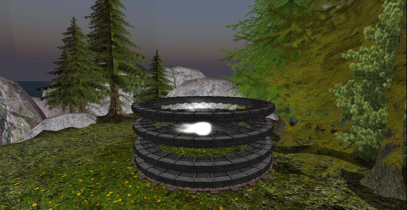 Pierścienie do teleportacji, Stargate,zdjęcie zgry Second Life Pierścienie do teleportacji, Stargate,zdjęcie zgry Second Life Źródło: Jin Zan, 2013, licencja: CC BY-SA 3.0.