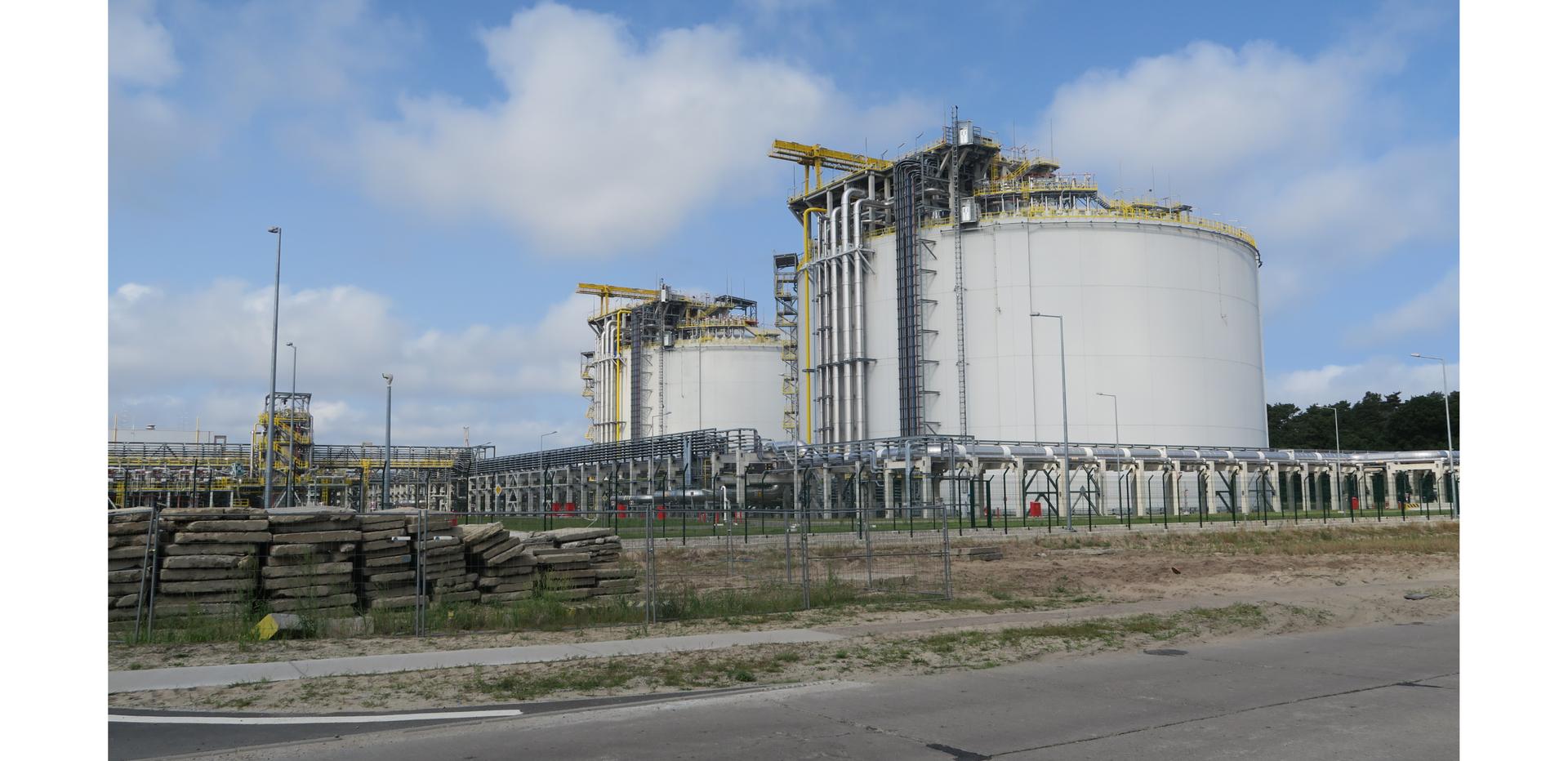 Ilustracja przedstawia zbiornik gazu.