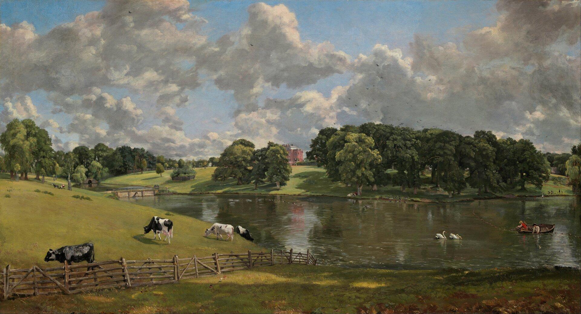 Park Wivenhoe Źródło: John Constable, Park Wivenhoe, 1816, olej na płótnie, National Gallery of Art, domena publiczna.