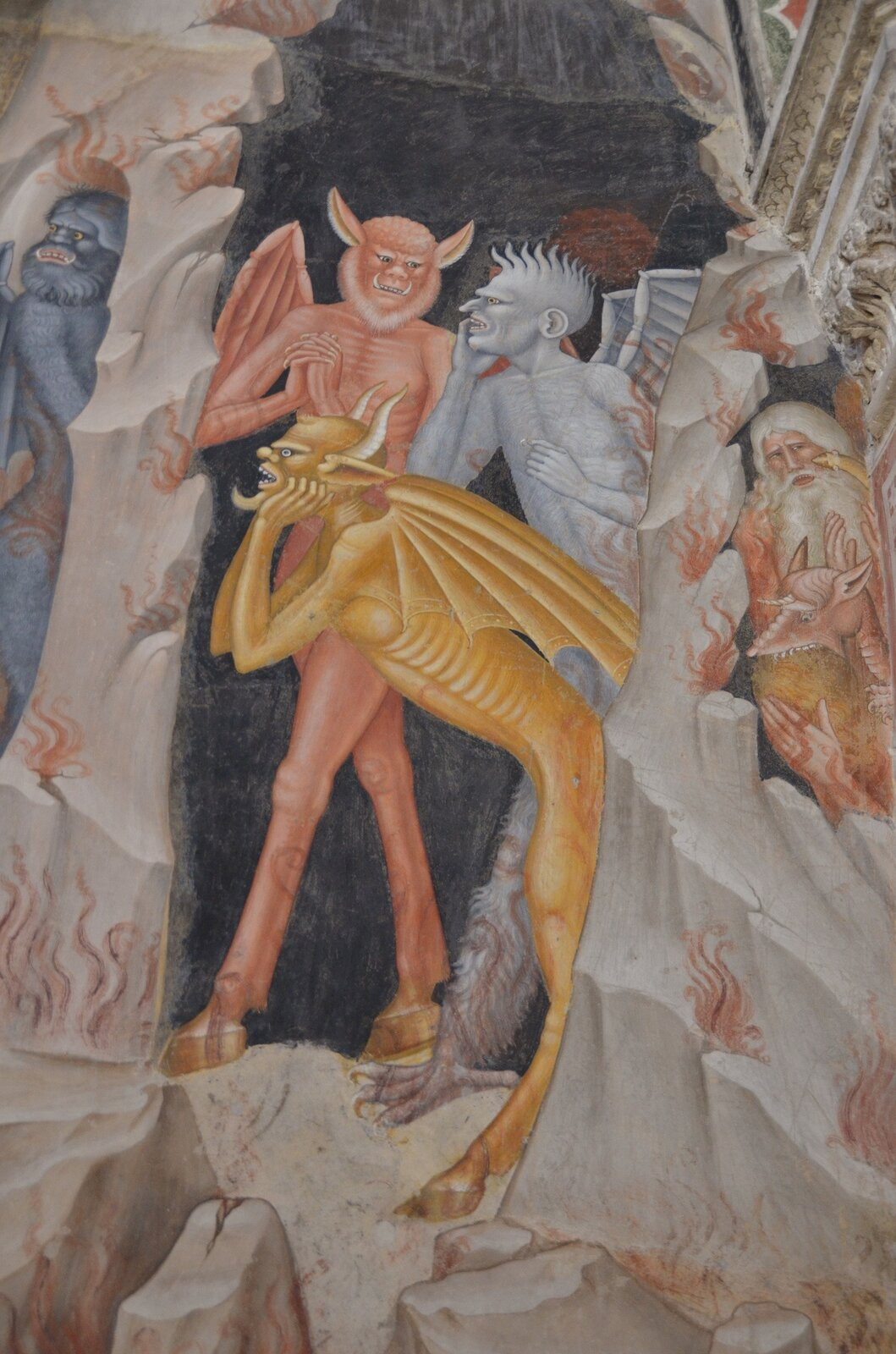 Andrea di Bonaiuto, Zstąpienie do Otchłani, detal, ok. 1365, fresk wkaplicy hiszpańskiej wkościele Santa Maria Novella, Florencja Andrea di Bonaiuto, Zstąpienie do Otchłani, detal, ok. 1365, fresk wkaplicy hiszpańskiej wkościele Santa Maria Novella, Florencja Źródło: Richard Mortel, licencja: CC BY-SA 2.0.