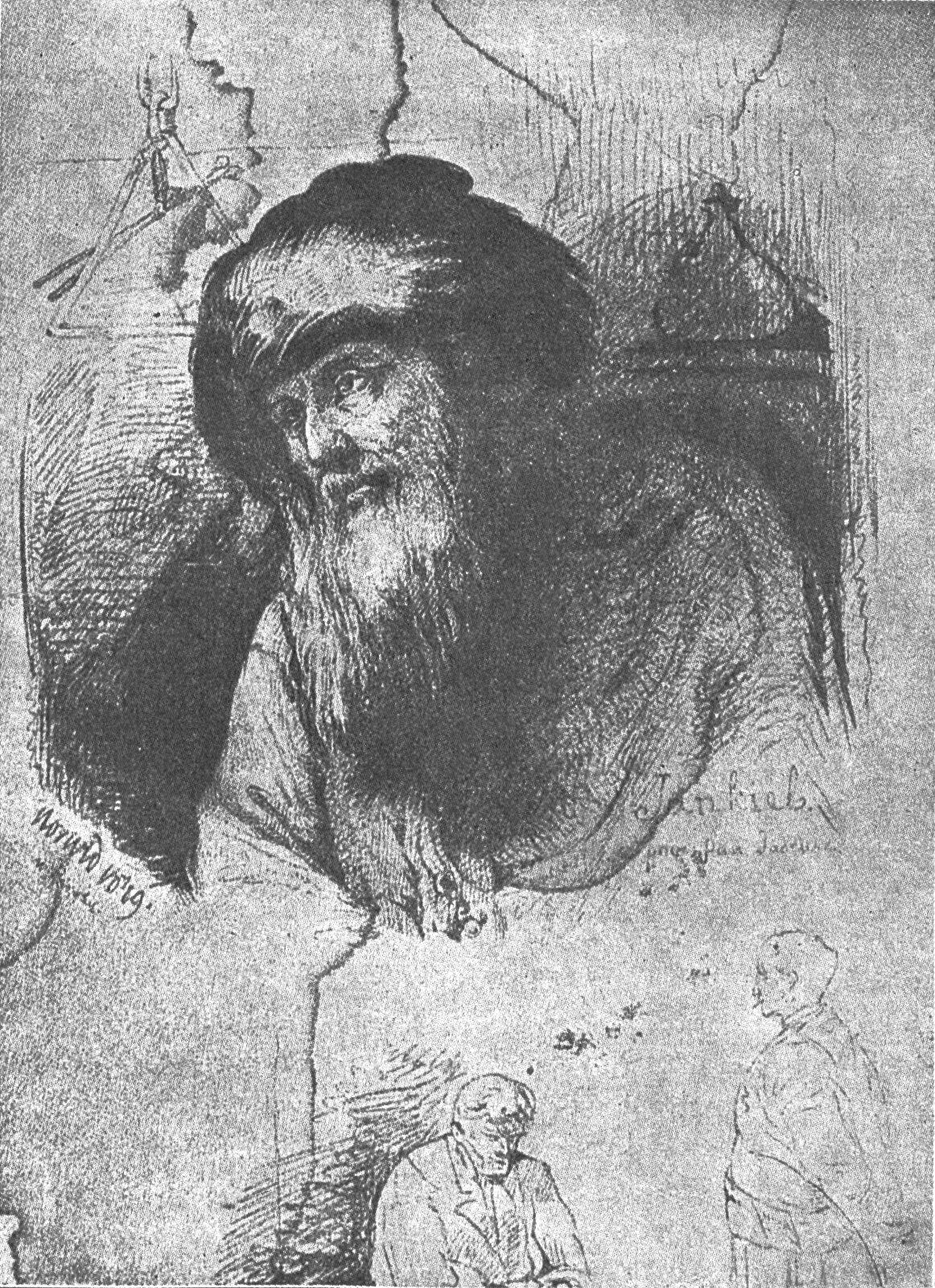 Jankiel Grafika zksiążki Dzieła Cypriana Norwida. Źródło: Cyprian Kamil Norwid, Jankiel, przed 1883, domena publiczna.