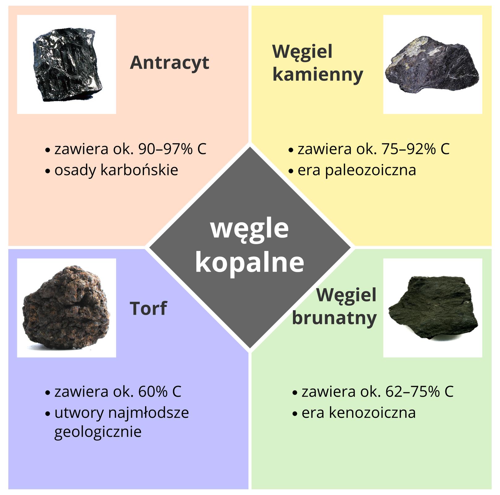 Rodzaje węgli kopalnych