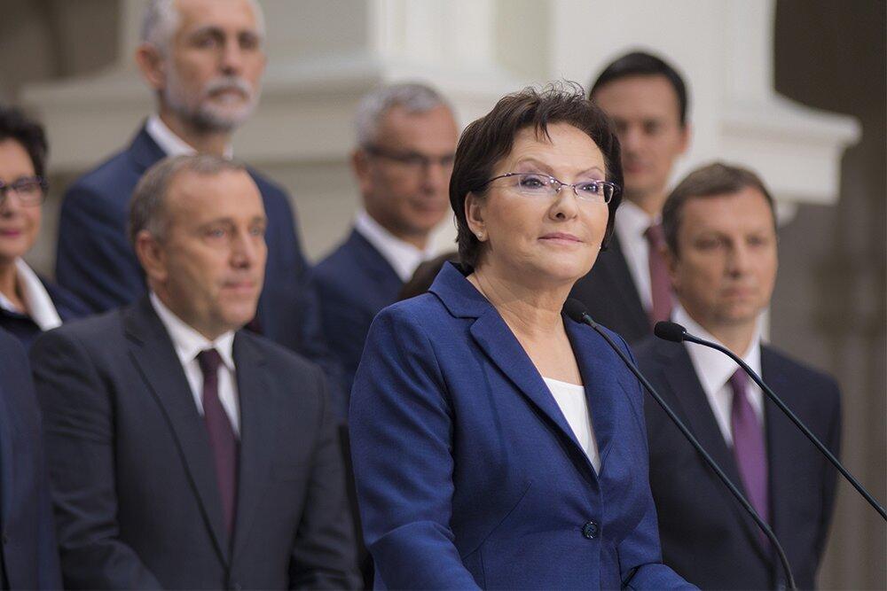 Ewa Kopacz, od 22 września 2014 r. Prezes Rady Ministrów Źródło: Platforma Obywatelska RP, Ewa Kopacz, od 22 września 2014 r. Prezes Rady Ministrów, licencja: CC BY-SA 2.0.