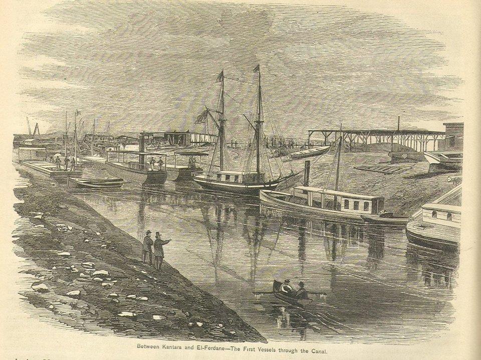Kanał Sueski Źródło: Kanał Sueski, XIX w., domena publiczna.