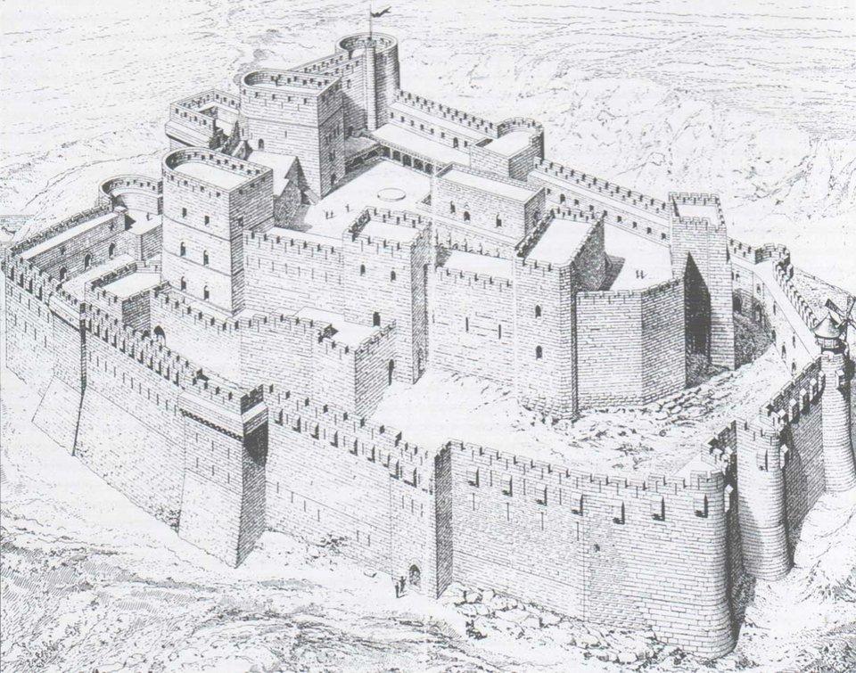 Rysunek zamku Źródło: Guillaume Rey, Rysunek zamku, licencja: CC 0.