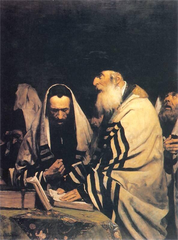 Modlący się Żydzi Źródło: Antoni Kozakiewicz, Modlący się Żydzi, 1882, olej na płótnie.