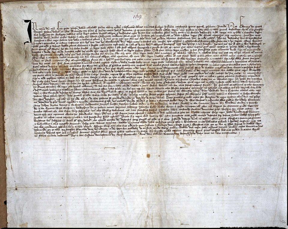 Przywilej koszycki 1374 r. – oryginał Przywilej koszycki 1374 r. – oryginał Źródło: domena publiczna.